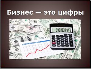 Бизнес – это цифры