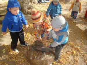 Children help adults