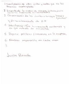 Отзыв на испанском с тренинга по Финансовому планированию